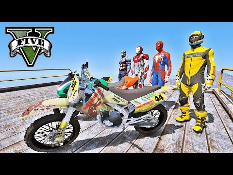 MOTOS no Desafio na Mega Rampa - GTA V Mods - IR GAMES