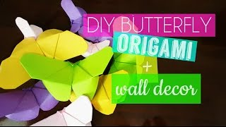 boring wall is not good. Here are some ideas that you can make to spice up your room with just some colored papers, scissor, glue stick , glue gun (optional), i just used candle to melt the glue stick, :D be resourceful. ;)here's the link:  https://www.youtube.com/watch?v=60noHyyLDBE