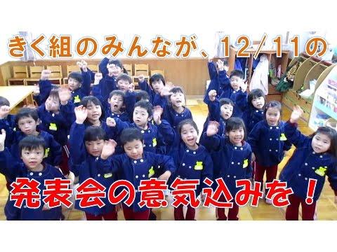 八幡保育園(福井市)2016発表会を前にきく組のみんなが意気込みを心ひとつにお伝えします