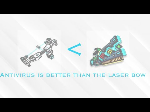 Antivirus is better than the laser bow!! | Pixel Gun 3D