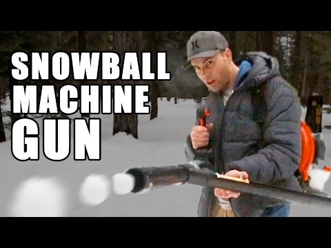 Make your own snowball machine gun!