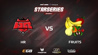 HR vs fruits, game 1