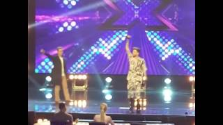 Adam Lambert sings I Want To Break Free with contestant on X Factor (skyblue77's IG vids)