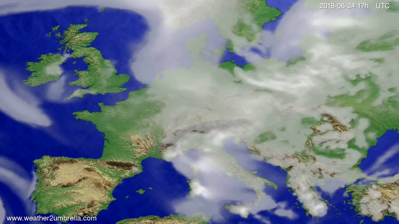 Cloud forecast Europe 2018-06-22