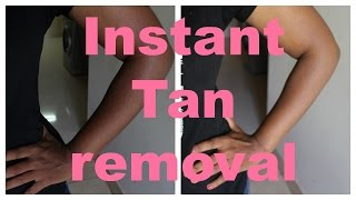 DIY Instant Tan Removing Face and Body Scrub - 3 Ingredients Only
