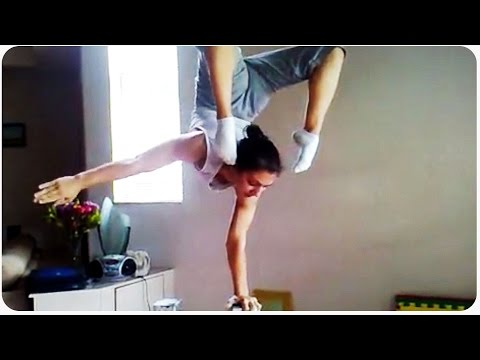 hand - Check out these amazing hand balancing skills. Putting her hands on two stilts, this girl might be the strongest, most flexibly girl ever. Original Link: https://www.youtube.com/watch?v=qK0itWP2Jn0...