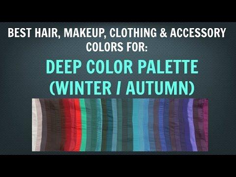 Deep Winter & Deep Autumn Color Palette: Neutral Skin Tone Makeup and Hair Colors - Color Analysis