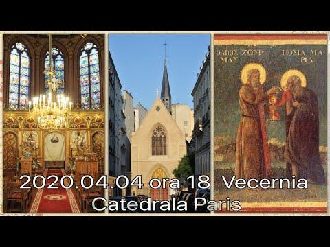 2020.04.04 ora 18:00 DIRECT Vecernia, Catedrala din Paris