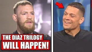 Conor McGregor CONFIRMS Nate Diaz trilogy will happen! - Masvidal calls out McGregor, TJ Dillashaw