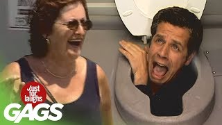 Head in the toilet prank - Just For Laughs