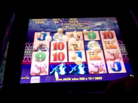 VERY NICE Timber Wolf (Aristocrat) Video Slot Machine Bonus Win
