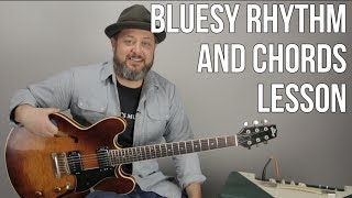 Blues Rock Rhythm Guitar Lesson - Tasty Chords For Blues and Rock
