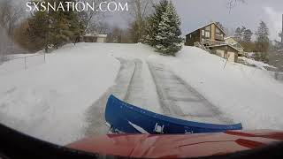 9. Polaris Ranger 500 plowing snow12:25:2017