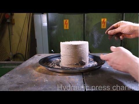 液壓機對上鋼筋混泥土 真實模擬海砂屋的慘狀!