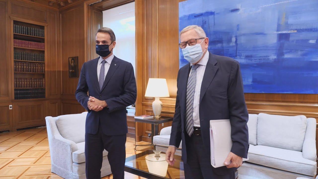 Συνάντηση του Πρωθυπουργού με τον επικεφαλής του Ευρωπαϊκού Μηχανισμού Σταθερότητας Klaus Regling