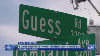 Some Durham residents want Guess Road's speed limit increased