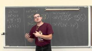 Factoring Monomials From A Polynomial