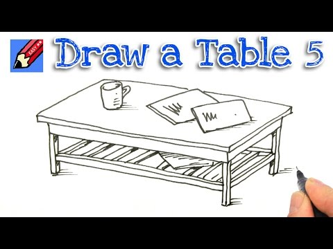 How To Draw A Coffee Table Number Five