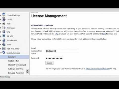 How to Activate a SonicWALL License Code