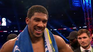 POST FIGHT: Anthony Joshua says he wants to fight Deontay Wilder next