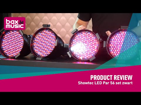 Showtec LED Par 56 set zwart 4 set 8/2 - Review