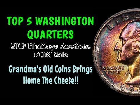TOP 5 Washington Quarters Sold On Heritage Auctions 2019 FUN Sale - All Common Dates!!