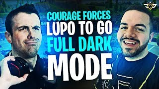 COURAGE FORCES LUPO TO GO DARK MODE?! I NEED TO BE STOPPED! (Fortnite: Battle Royale)