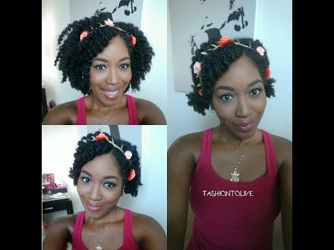Natural Hair: 3 Easy Summer Hairstyles with a Flower Crown