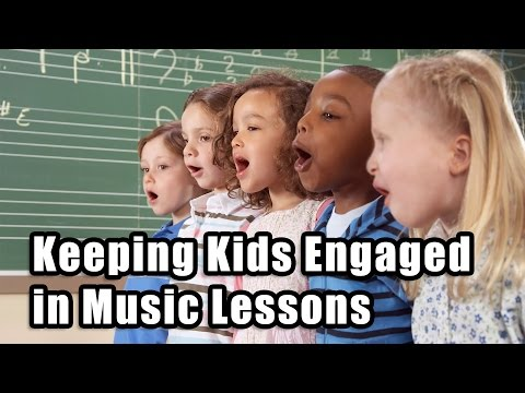 How to keep children engaged in music lessons and practicing