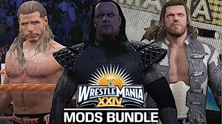 I showcase a few WrestleMania 24 mods and also feature my WrestleMania 24 created arena! Shawn Michaels and Ric Flair was created by Aznblusuazn, Edge was created by FinaleStar and amMatt and Undertaker was created by AlcLegacy! The WrestleMania 24 Arena was created by me, Jules145 and is available for download on PC!If you guys appreciate all the hours and hard work I put into these videos, you have the option to donate to me to support me even more! Donate Link: https://streampro.io/tip/jules1451Show some love by leaving a like, sharing and subscribing for more awesome videos like these!OUTRO MUSIC: Undertaker's Rollin Theme Cover by JAYDEGARROWJAYDEGARROW's YouTube: https://www.youtube.com/channel/UCit4zHRRYaU5Og8ZHqvA7jQFOLLOW ME HERE:Facebook: https://www.facebook.com/julian.rosado.14Twitter: https://twitter.com/Jules1451Instagram: https://www.instagram.com/jules1451/Snapchat: @Jules1451Want to see more WWE 2K16 & WWE 2K17 Content? Visit this link for more! http://www.thesmackdownhotel.com