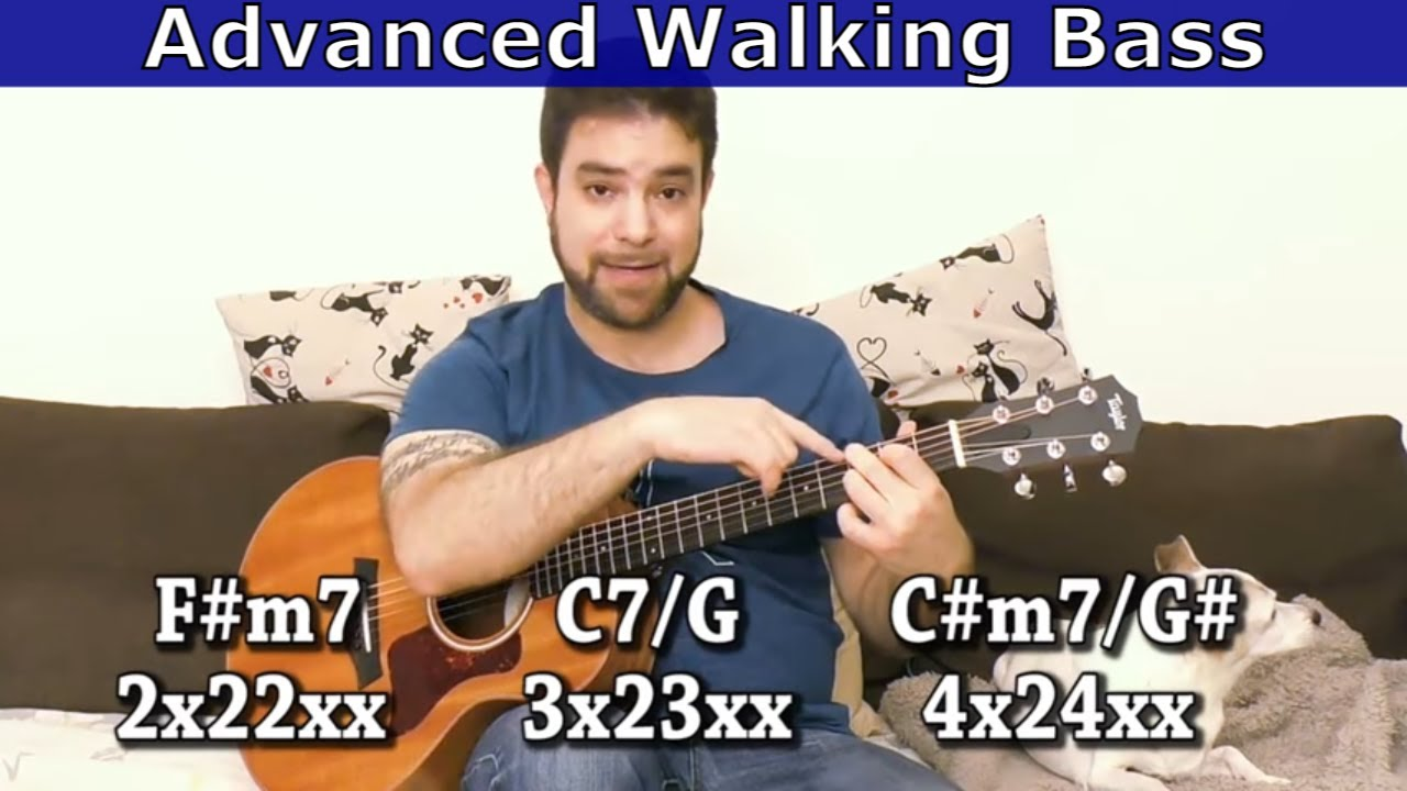 Lesson: Advanced Walking Bass For Guitar (Jazz-Style) – Full Tutorial w/ TAB
