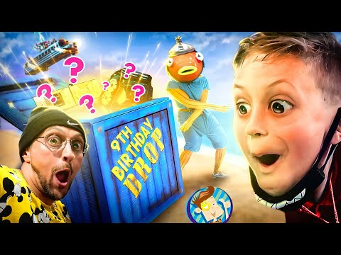 REAL FORTNITE SUPPLY DROP Surprises CHASE on Bday with New Gaming Setup from TIKO (FV Family Vlog)