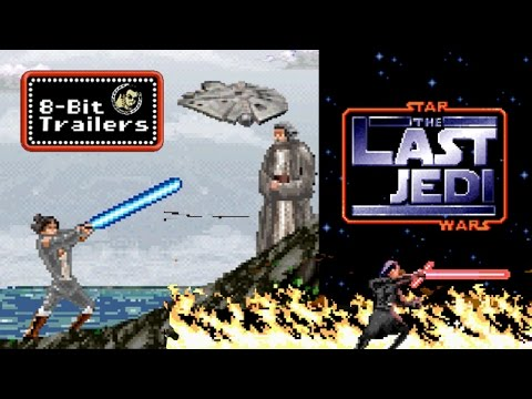 The Trailer for Star Wars The Last Jedi Reimagined as an 8Bit Animated Video