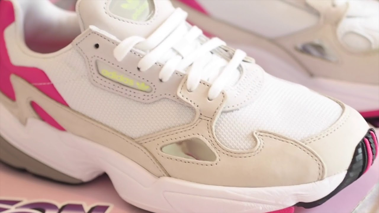 ♡ Unboxing #5 - Adidas Falcon (white pink) ♡