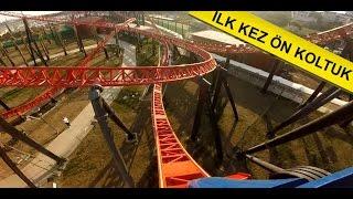 Dünyanın en hızlı roller coaster'larından biri olan Red Fire'a gopro kamera ile ön koltukta çekim yaptık. Youtube'da ilk defa ön koltuk Red Fire Roller coast...