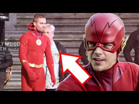 Oliver Queen As The Flash! Barry Allen As Green Arrow! - Elseworlds Crossover LEAKED Set Photos