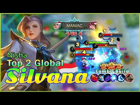 Silvana Christmas MANIAC!! Top 2 Global Silvana Gameplay By Nisha ~ Mobile Legends