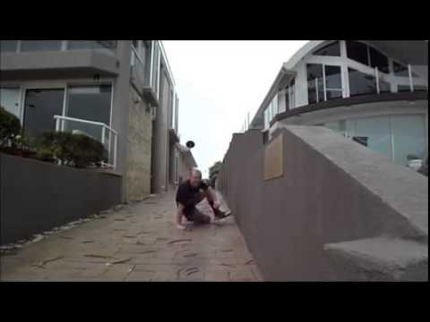 Oops! Guy Tries To Jump The Gap And THIS Happens!