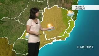 Boletim de previsão do tempo contendo informações sobre as imagens de satélite, previsão, temperatura mínima e máxima prevista e a tendência do tempo ...