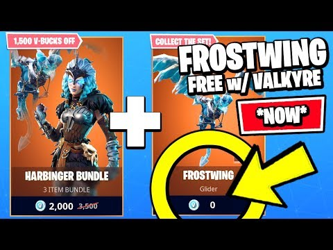 *NEW* Fortnite HOW TO GET FROSTWING GLIDER FREE w/ VALKYRE (ITEM SHOP RIGHT NOW)