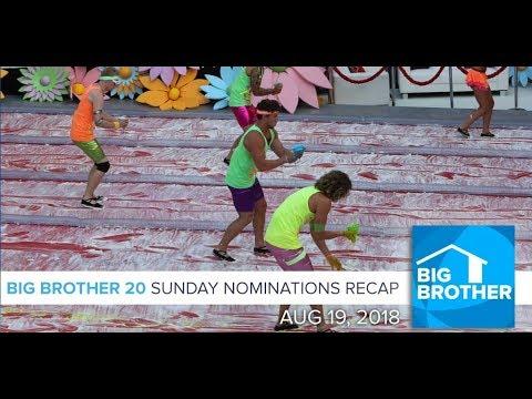 Sunday 8/19 Nominations Recap (видео)