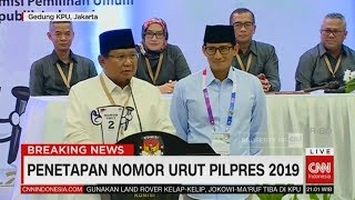 Video Prabowo: Mari Menyongsong Demokrasi dengan Baik & Tenang | Penetapan Nomor Urut Pilpres 2019 MP3, 3GP, MP4, WEBM, AVI, FLV September 2018