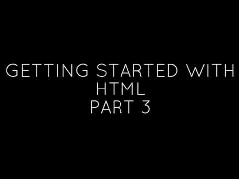 Get Started With HTML #3 - Attributes, Anchor Links, Classes And IDs