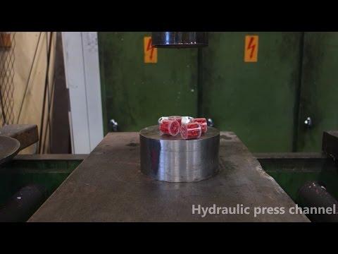 液壓機挑戰火藥及可樂 瞬間爆炸感讓人超紓壓!