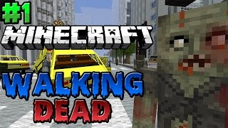 Minecraft : Walking Dead Modded Survival Season 2 Episode 1 - FLYING BUS TO THE RESCUE!