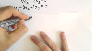 Homogeneous Systems of Linear Equations - Trivial and Nontrivi...