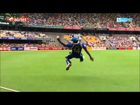 Sangakkara flicks superbly between mid-on and mid-wicket - four!