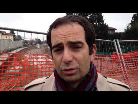Il capogruppo Pd Regione Alfieri al cantiere dell'Arcisate-