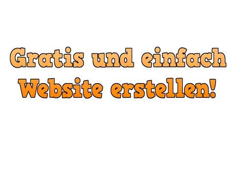 Gratis und einfach Webseite erstellen! [HD]