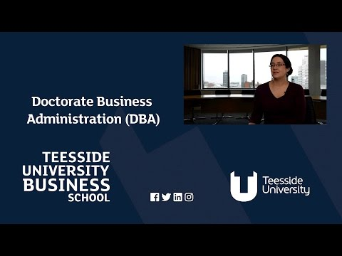 DBA - Doctorate Business Administration at Teesside University